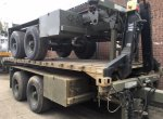 Reynolds Boughton Tandem 15 ton Skeletal drops 20fts ISO container Transport trailer