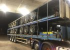 5 x SDC Tri axle Platform Flatbed transport trailers