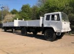 Leyland DAF 4x4 Truck Ex Army & Schmitz 10 Ton Draw Bar Drop Side Trailer