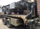 Reynolds Boughton Tandem 15 ton Skeletal drops 20fts ISO container Transport trailer